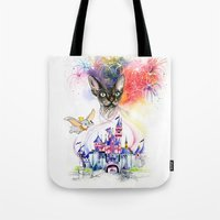simba Tote Bags featuring Simba the princess sphynx by Psyca