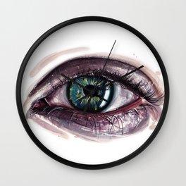 Eye painting Wall Clock