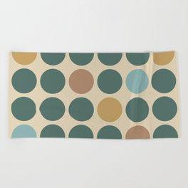 Mid Century Modern Polka Dot Pattern 437 Beach Towel