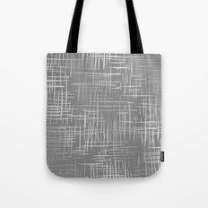 Crosshatch Gray Tote Bag