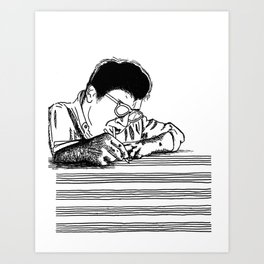 Morton Feldman (Lines Only) Art Print
