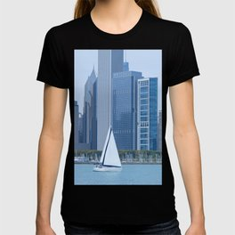 Sailing Past Chicago T-shirt