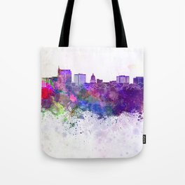 Boise skyline in watercolor background Tote Bag