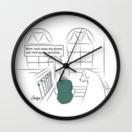 Get Off Your Phone and Socialize Wall Clock