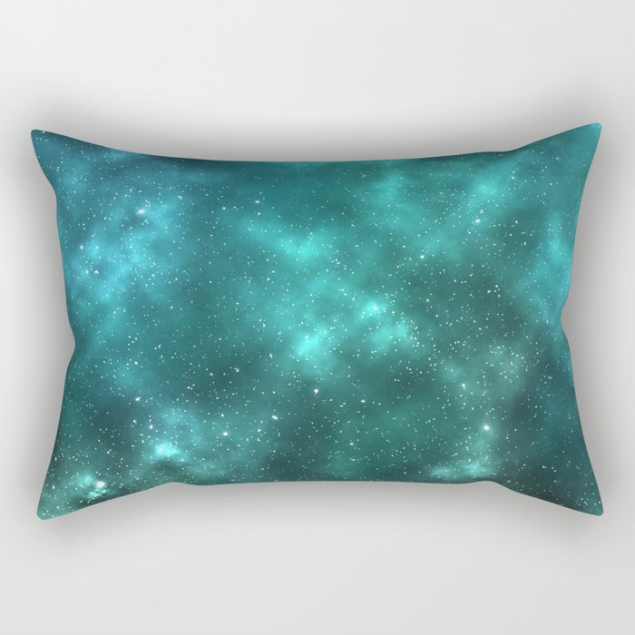 Mint Galaxy Rectangular Pillow
