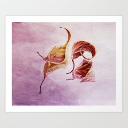 leaf me breathless Art Print