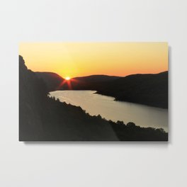 Sunrise over Lake of the Clouds Metal Print