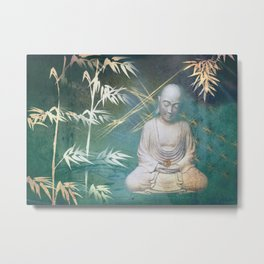 Buddha's awakening from deep meditation Metal Print