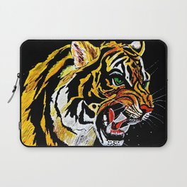 Tiger Stalking Prey Oil Painting Laptop Sleeve