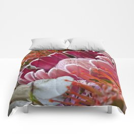 Lovely Feather Protea Comforters