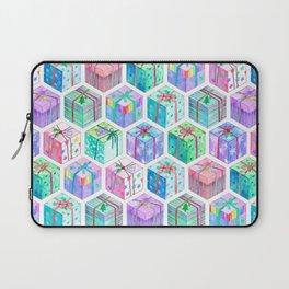 Christmas Gift Hexagons Laptop Sleeve