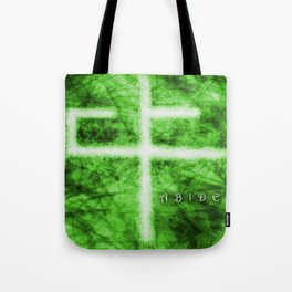 Abide Green Tote Bag