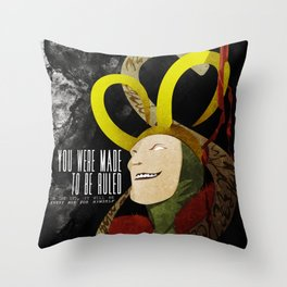 Loki: Made to be Ruled (Invert) Throw Pillow
