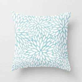 Abstract mums Throw Pillow