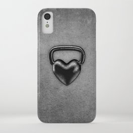 Kettlebell heart / 3D render of heavy heart shaped kettlebell iPhone Case