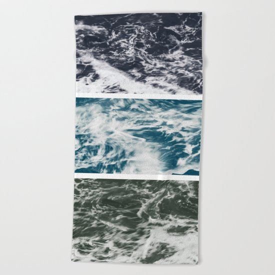 SaltWater Tryptych Variation II Beach Towel