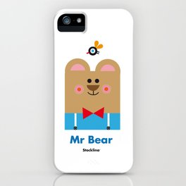 Mr Bear iPhone Case
