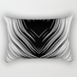 stripes wave pattern 3 bwii Rectangular Pillow