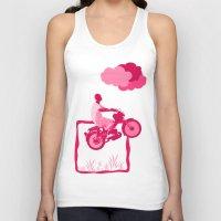 motorbike Tank Tops featuring Motorbike Guy by Sergio Silva Santos