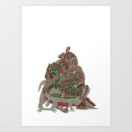 Reptile Pile Art Print