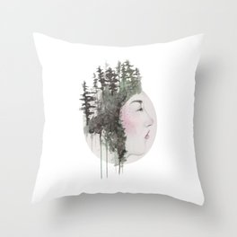 """""""Sometimes, even the snow is sad."""" Throw Pillow"""