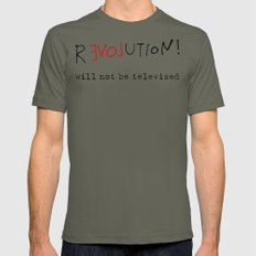 re-love-ution LARGE Lieutenant Mens Fitted Tee