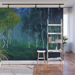 White Birch Forest, New England Landscape Wall Mural