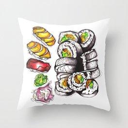 Yummy Sushi Throw Pillow