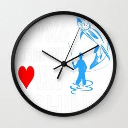 THIS FLORIDA GUY LOVES FISHING Wall Clock