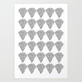 Diamond Repeat Pattern Art Print