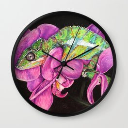 Mort the Chameleon Wall Clock