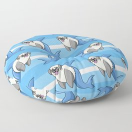 Sharky Pug Floor Pillow