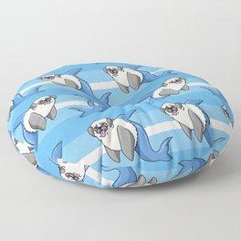 Sharky Pug Floor Pillow