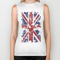 uk Biker Tanks featuring Grunge UK by Sitchko Igor