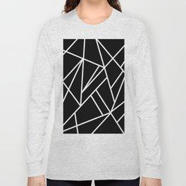 Classic Black White Geo #1 #geometric #decor #art #society6 Long Sleeve T-shirt