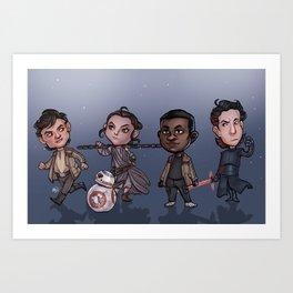 The Cute Awakens Art Print