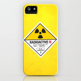 Radioactive sign Back to the future iPhone Case