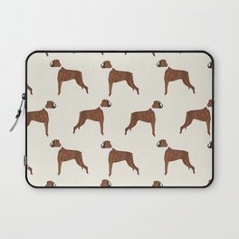 Boxer dog pattern dog lover pet portraits boxers dog breed by pet friendly Laptop Sleeve