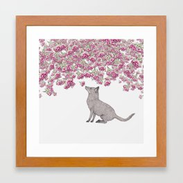 Visiting the Flowers Framed Art Print