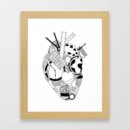 Heart of a Teacher Framed Art Print