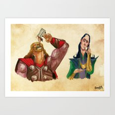 Coffee in Asgard Art Print