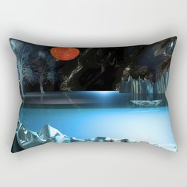 3d Art Digital Art Cave Lake Rectangular Pillow