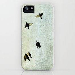 Birds Let's fly iPhone Case