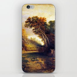 Joseph Paul Landscape with Picnickers and Donkeys by a Gate iPhone Skin
