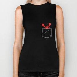 Big Pocket Lobster T-Shirt Animal In Your Pocket Lobster Biker Tank