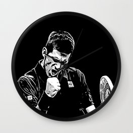 Djokovic Fist Pump Wall Clock