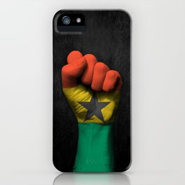 Ghana Flag on a Raised Clenched Fist iPhone Case