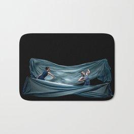 Dancing in rough blue waters Bath Mat