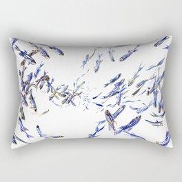 Shoal, Fish, Fishing, Beach, fishing design Rectangular Pillow