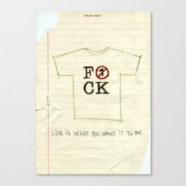 Punk Quotes Poster Serie / Fugazi Said : Song#1 Canvas Print